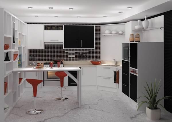 cocinas minimalistas negro y blanco  Hoy LowCost