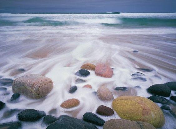 Rackwick beach boulders
