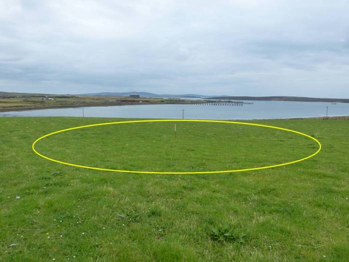 HY56 - Bomb Crater of 1st Bomb to Land on British Soil in WWII