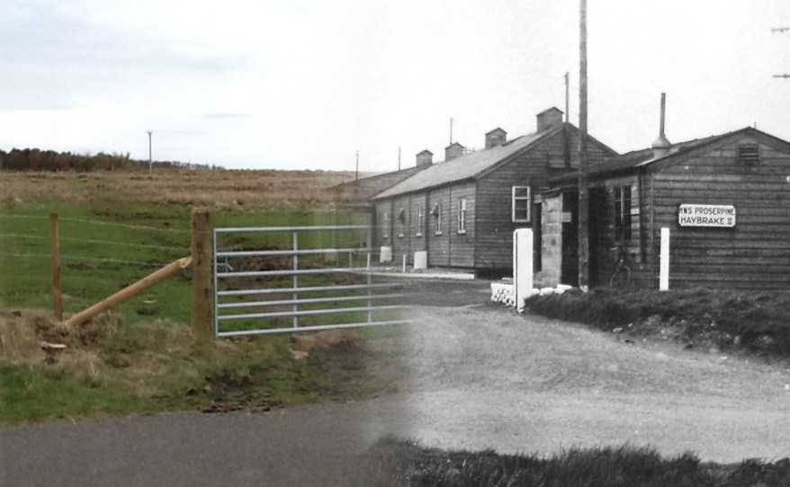 WWII Hoy Then & Now - Haybrake Camp II, Lyness