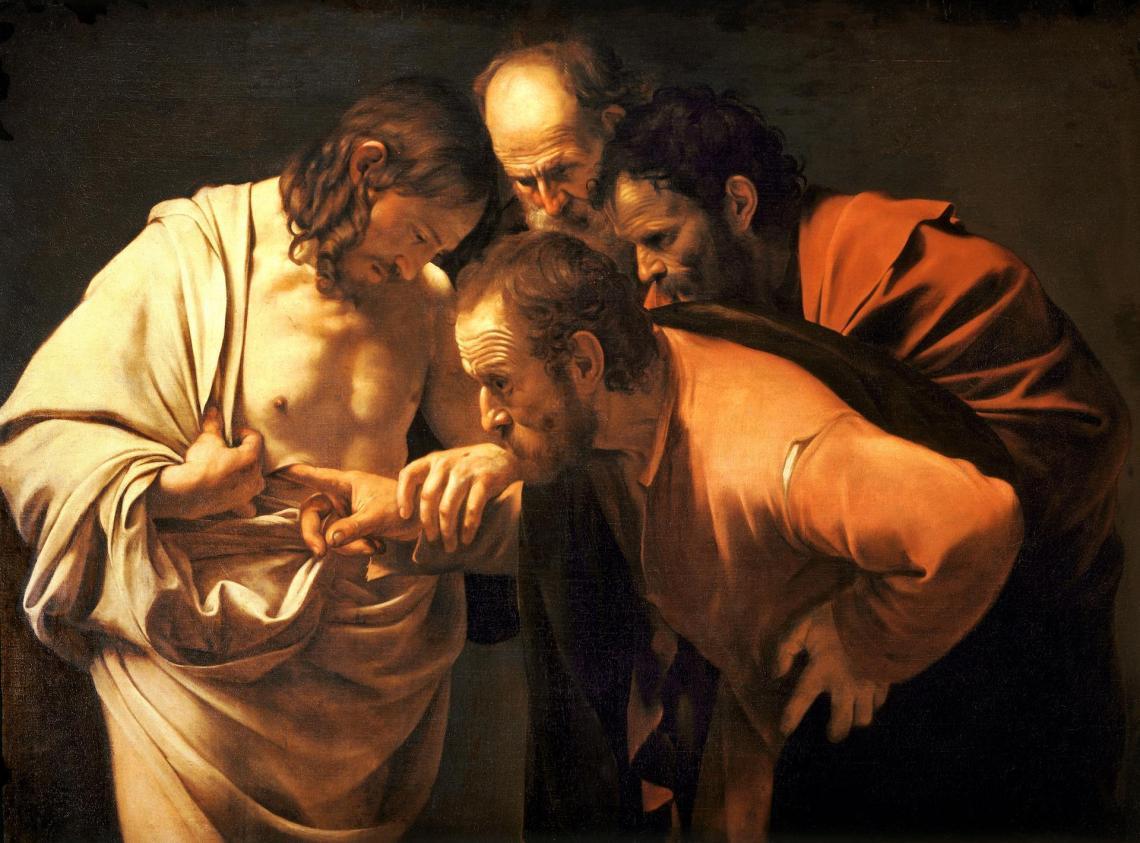 Caravaggio-LaincredulidaddeSantoTomas