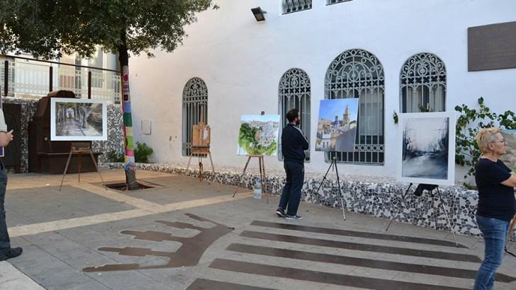 Numerosa y destacada participación en el concurso de pintura rápida