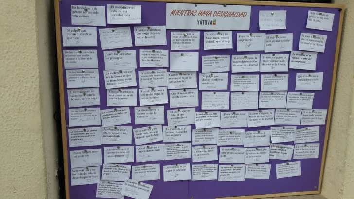 Yátova realiza acciones contra la Violencia de Género (imágenes)