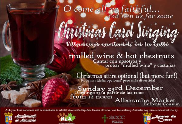 Alborache organiza el próximo domingo el «Christmas Carlos Singing»