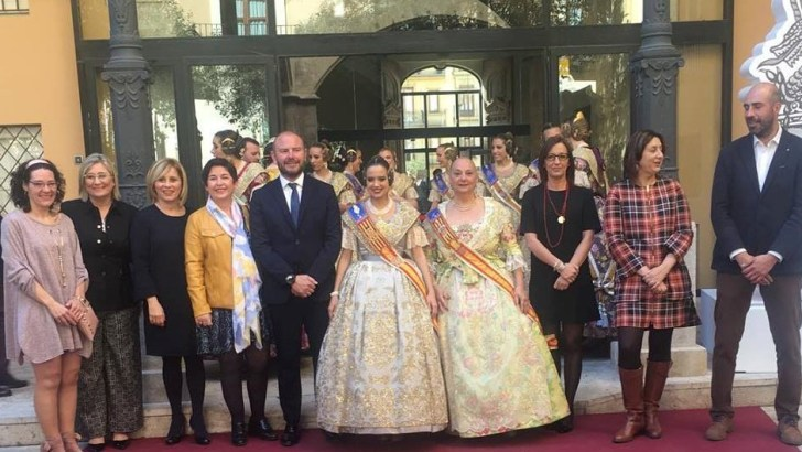 Buñol participa en la recepción fallera en Diputación de Valencia