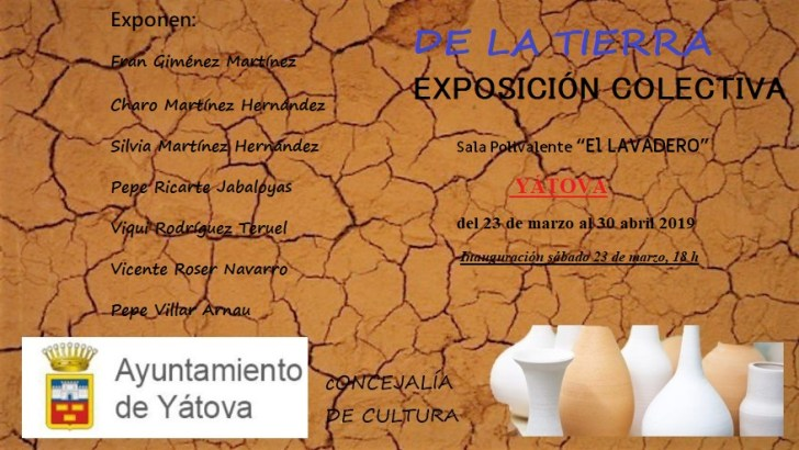 """La Sala El Lavadero de Yátova acoge la exposición colectiva de artistas locales """"De la Tierra"""""""