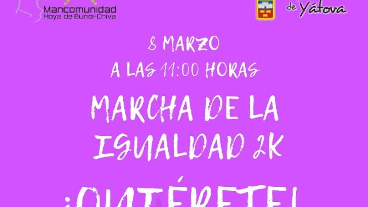 La Mancomunidad de La Hoya de Buñol organiza una marcha por la igualdad para este viernes