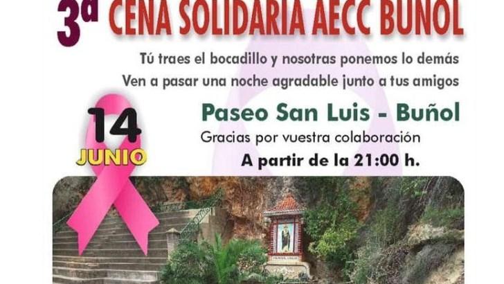 La AEEC de Buñol organiza su tercera cena solidaria este viernes