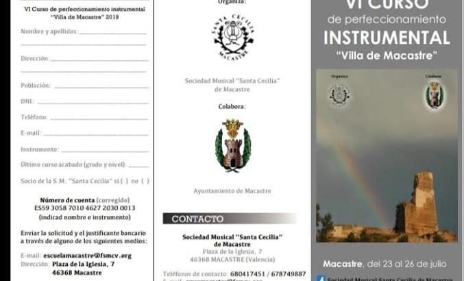 Abiertas las inscripciones para el VI Curso de Perfeccionamiento Musical Villa de Macastre