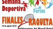 La Concejalía de Deportes de Buñol prepara las Finales de Raqueta