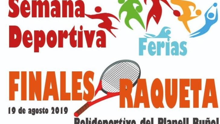 Este lunes se celebran las finales de los deportes de Raqueta en Buñol