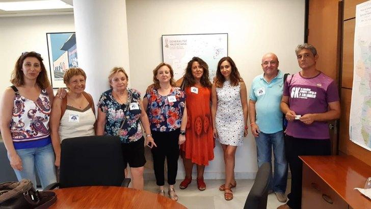 La concejalas de Sanidad de Cheste y Buñol y la Plataforma Pro-Hospital Comarcal se reúnen con la secretaria autonómica, Isaura Navarro