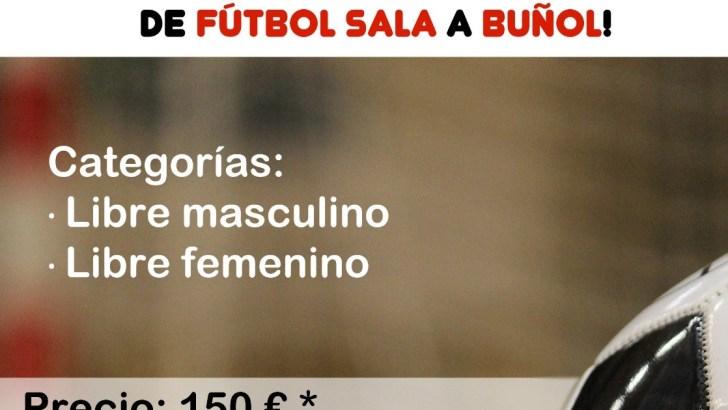 Siguen abiertas las inscripciones para el Campeonato de invierno de Fútbol-Sala en Buñol