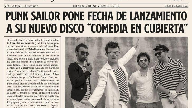 El grupo buñolense Punk Sailor sacará su nuevo disco el próximo 17 de diciembre