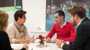 El vicepresidente de la Diputación Carlos Fernández Bielsa se reúne con los responsables del Ayuntamiento de Buñol