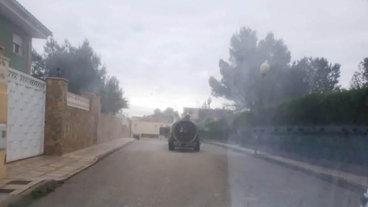 El Ayuntamiento de Alborache continúa con las tareas de desinfección y limpieza del municipio