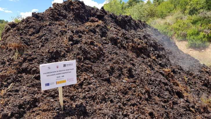 Yátova continúa avanzando en el proyecto de biomasa y compostaje para generar energía limpia