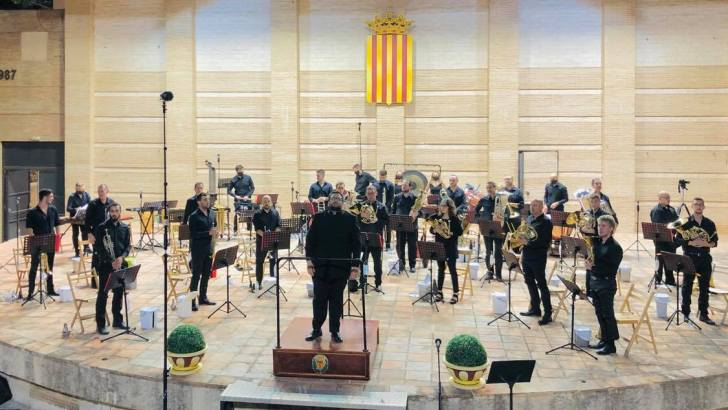 """""""Brass Night"""" primer concierto de «La Artística» de Buñol en el Ciclo """"Con seguridad, conciertos"""""""