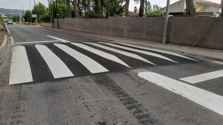Macastre ya cuenta con pasos de peatones elevados en la rotonda de los Cuatro Caminos