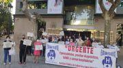 La Plataforma Pro Hospital y representantes de la comarca reclaman frente a Sanidad la reapertura de los Centros de Salud