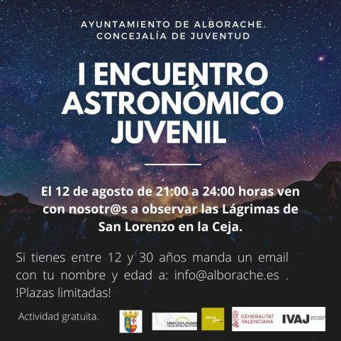Alborache I encuentro astronómico juvenil Agosto 2020
