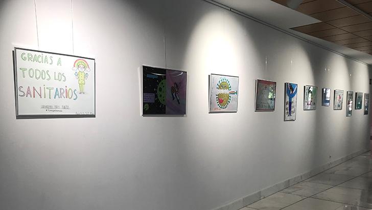 El Hospital de Manises expone una representación de los más de 1.000 dibujos de ánimo para pacientes y profesionales durante la pandemia