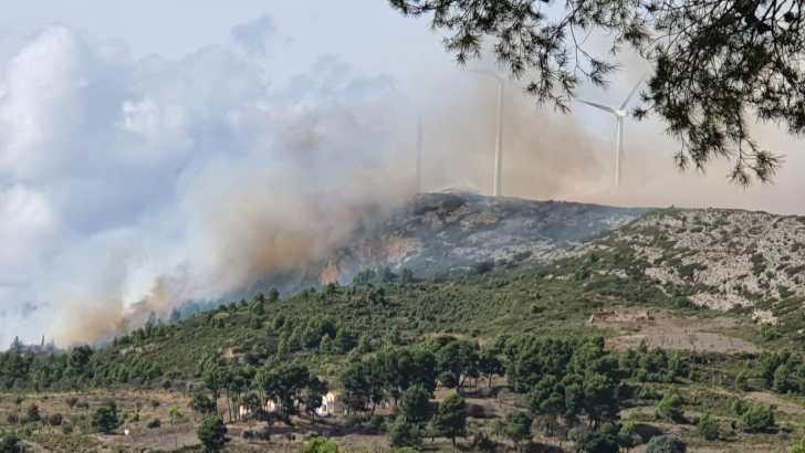 Se declara un incendio en el paraje de la Cabrera