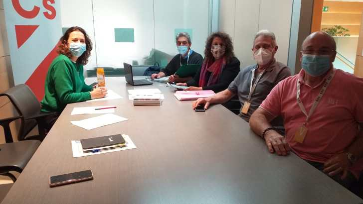 La Plataforma Pro Hospital Comarcal mantiene una reunión de trabajo con Ciudadanos