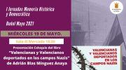 El Ayuntamiento de Buñol concluye las I Jornadas de Memoria Histórica y Democrática la próxima semana