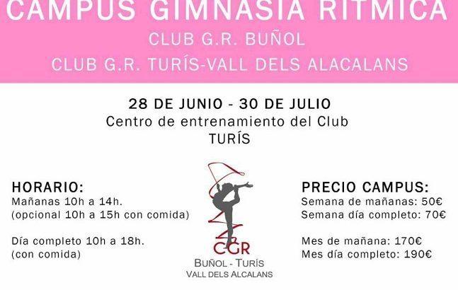 El Club de Gimnasia Rítmica Buñol, Turís, Vall dels Alcalans organiza un campus de verano