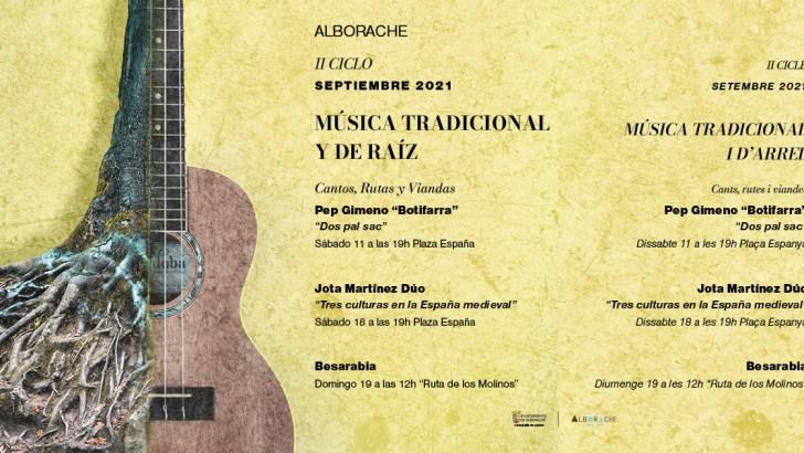 """Pep el Botifarra inaugura el II Ciclo de Música Tradicional y de Raíz """"Cantos, Rutas y Viandas"""" en Alborache"""