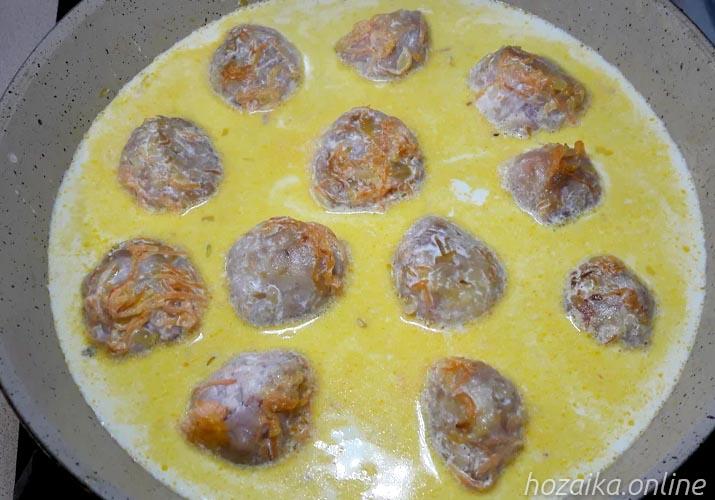 тефтели с сливочном соусе