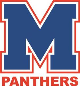 Midway Blue M Panthers outlined color
