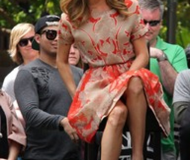 Stacy Keibler Visits Extra At The Grove In Los Angeles On April