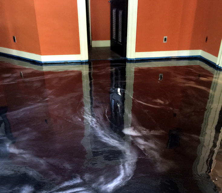 Epoxy Metallic Flooring Systems  SealKrete High