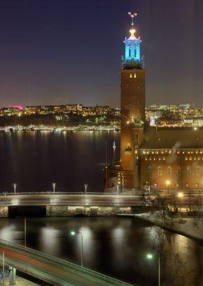 Stockholm City Hall After Dark
