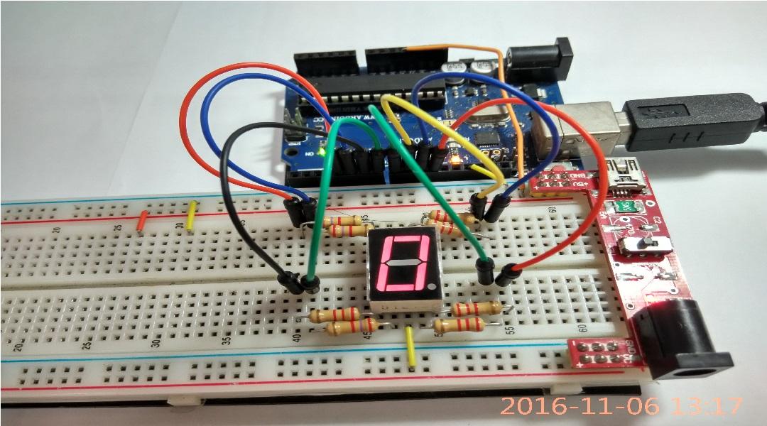 七段顯示器 – 周聃智能 Arduino 分享網