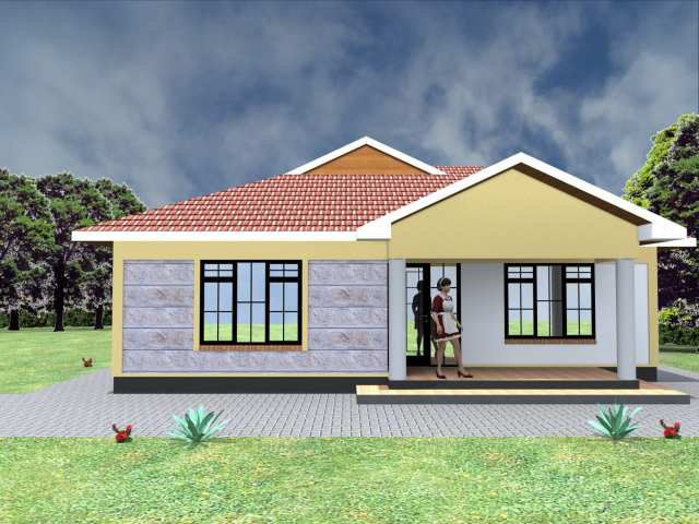 Low budget modern 3 bedroom house design |HPD Consult