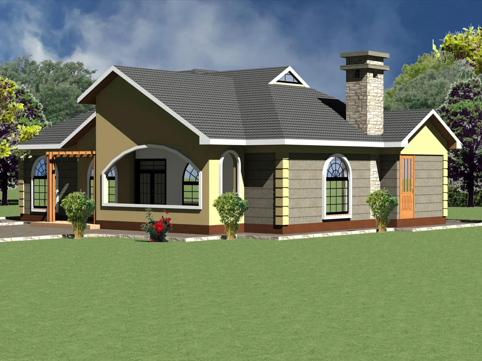 Modern 4 Bedroom House Plan Novocom Top