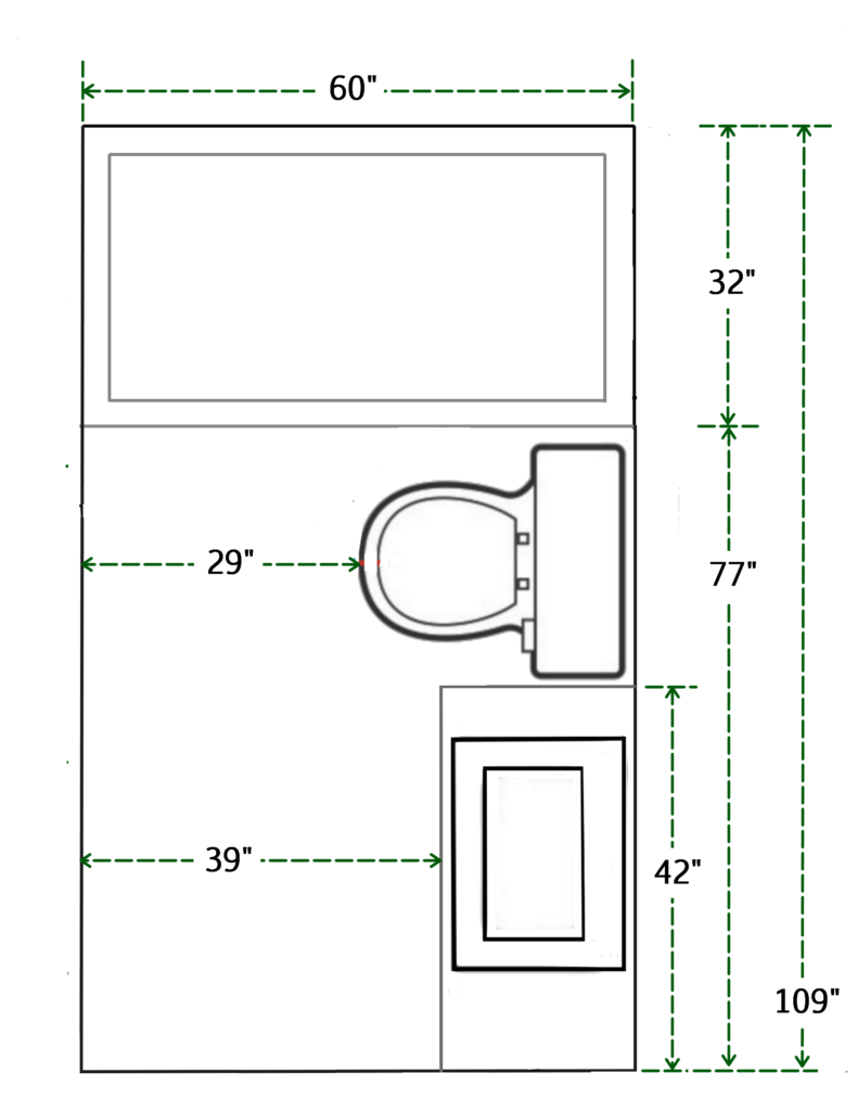Kích thước phòng tắm