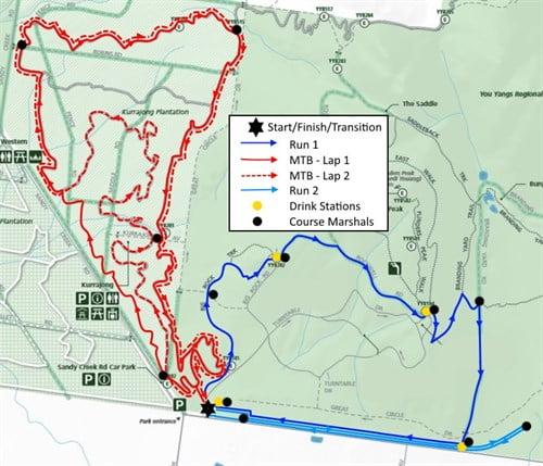 Dirty Duathlon Series 2016 - Race 3 Course Map