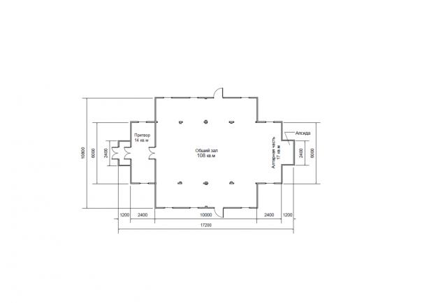 Планировка временного храма