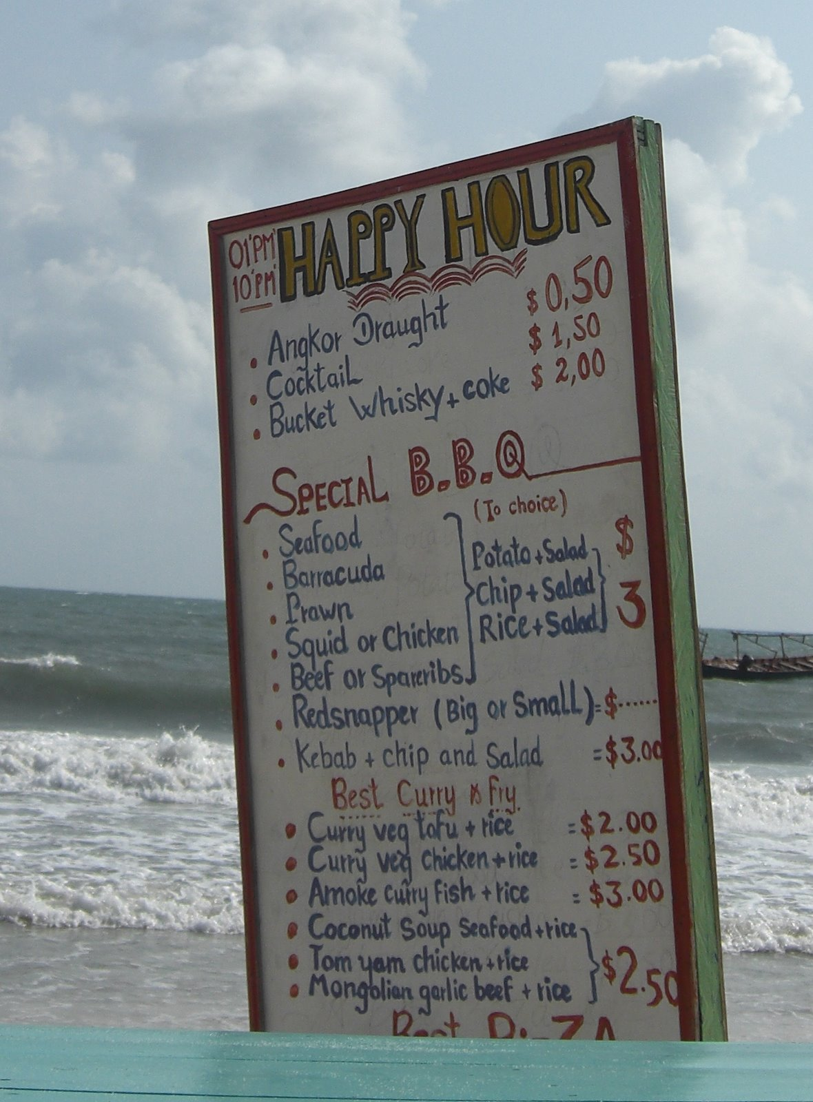 Drinks prices...
