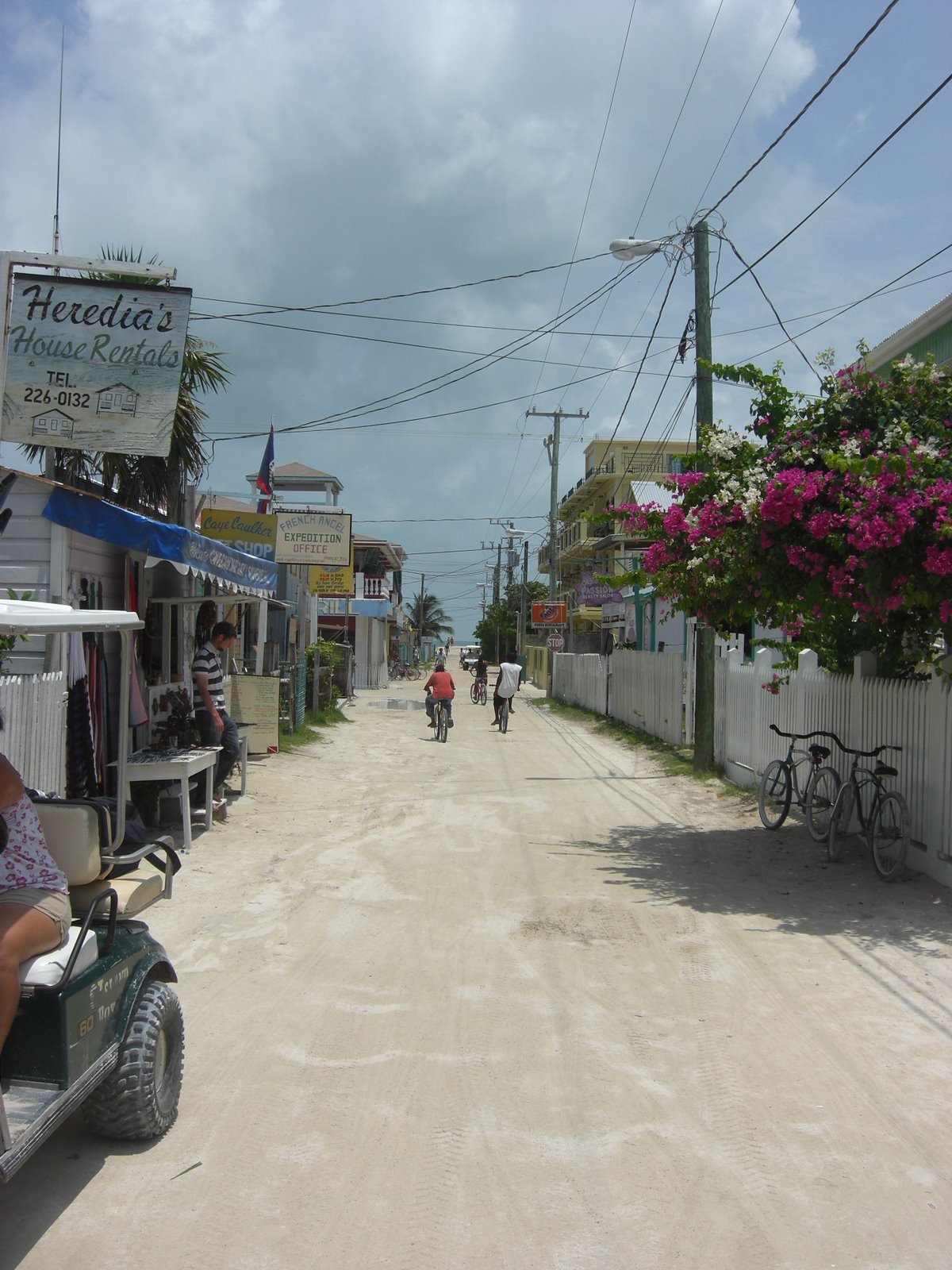 The main street - the island is mostly a small town, more buildings than you would expect for one in the middle of the Caribbean!