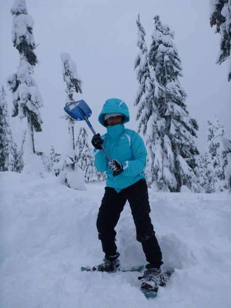 Harini, not impressed after the search for the snowshoe