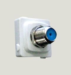view f connector socket [ 1350 x 1360 Pixel ]