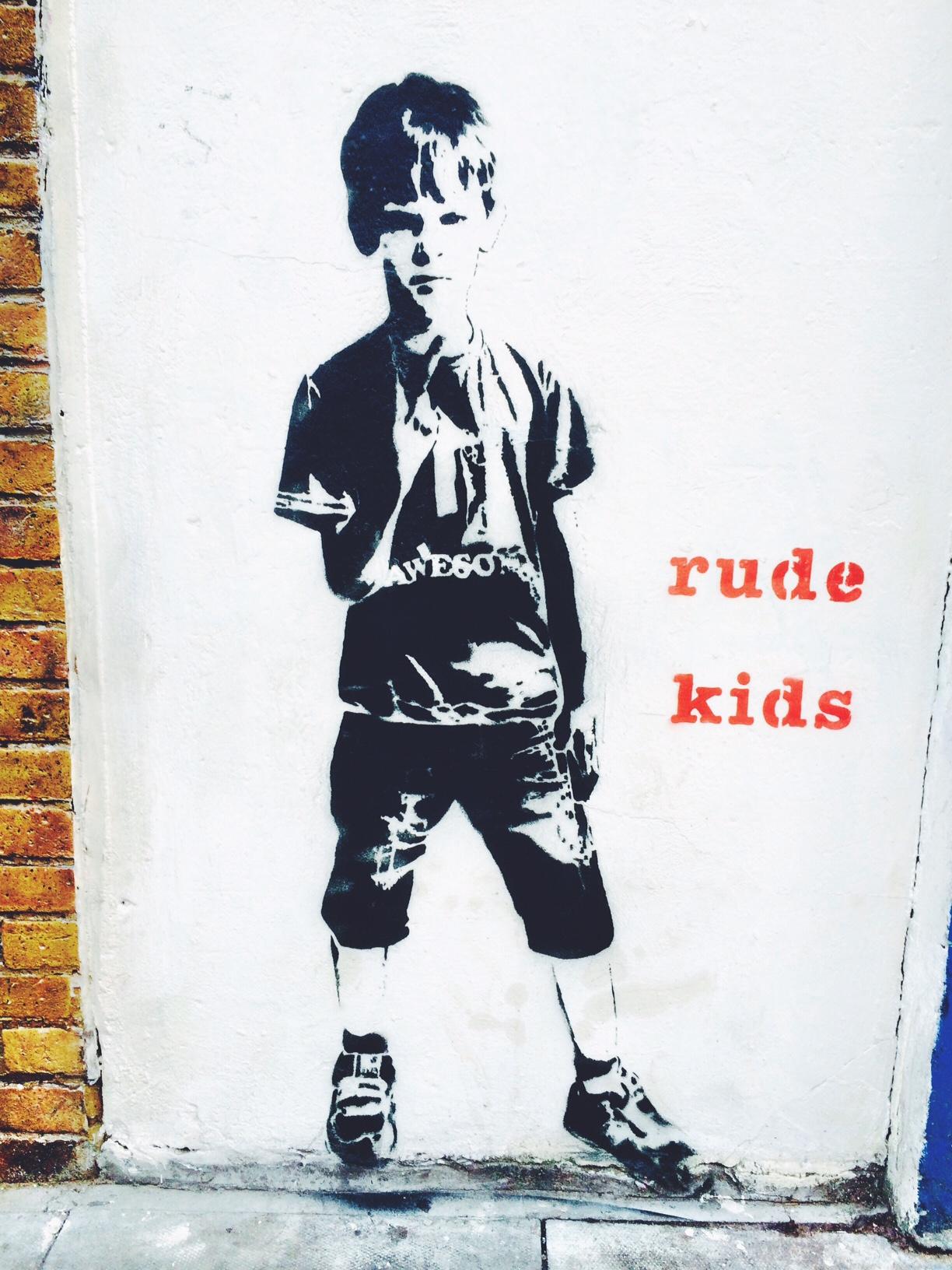 rude kids graffiti redchurch street