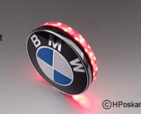 Led embleem achterlicht 58 mm met remlicht functie