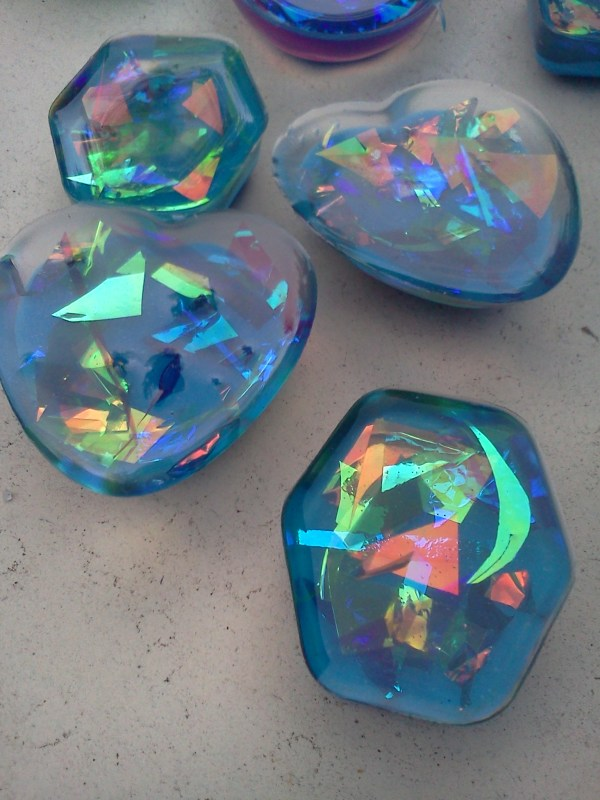 Faux Dichroic Resin Pendants Hippiefreak Beads