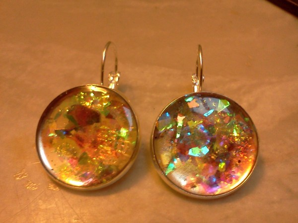Resin Jewelry with Paper